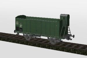 Offener Güterwagen mit Bremserhaus