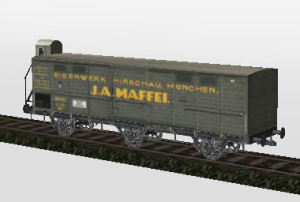 3 Achsiger geschlossener Güterwagen