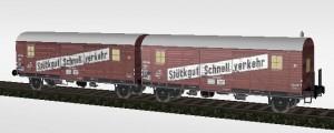 Stückgut-Schnell-Verkehr Garnitur der DB