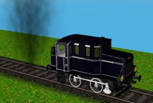 Loser Rauch eines animierten Modells
